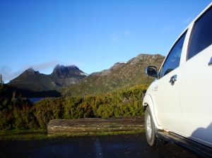 Cradle Mountain on a clear day