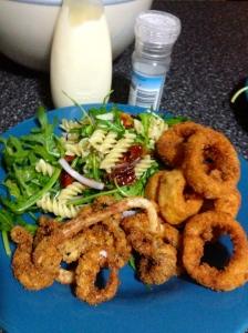 Rings on plate